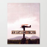 aviation Canvas Prints featuring Aviation Boulevard by Judith Kimber Photography