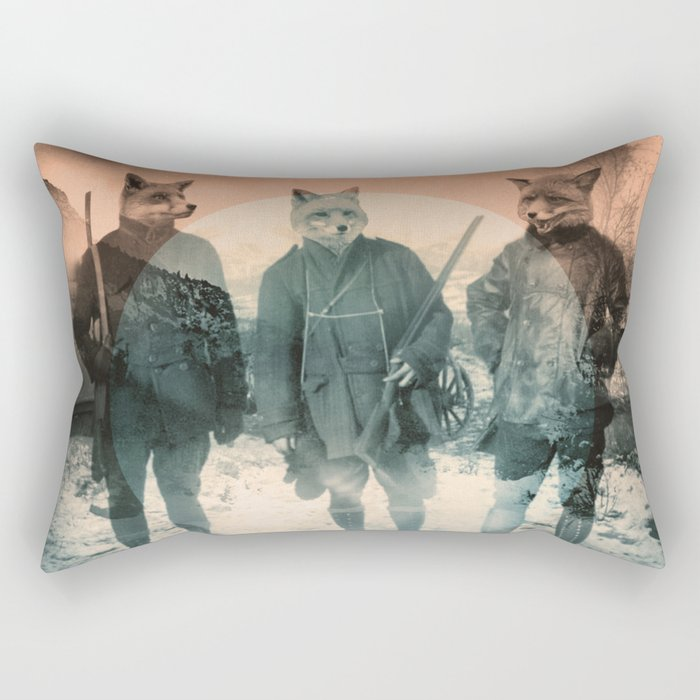 Fox Hunt Rectangular Pillow
