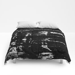 Distressed Grunge 102 in B&W Comforters