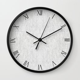 Grey cotton striped textured cloth abstract Wall Clock