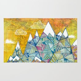Maps and Mountains Rug