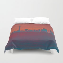 CN Tower skyline Duvet Cover