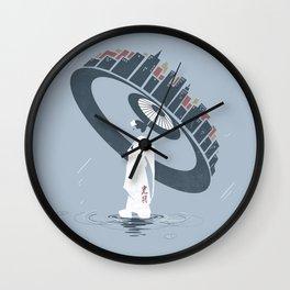 Raining 2 Wall Clock