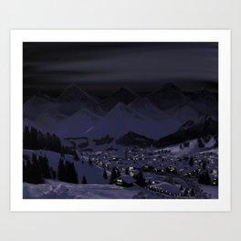 Night without stars Art Print