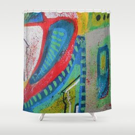 Abstract landscape - bright, eye-opening, vibrant color piece Shower Curtain