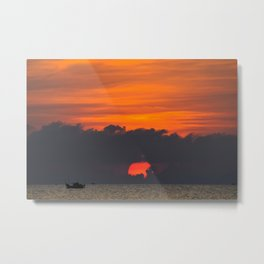 Vietnamese Sunset Metal Print