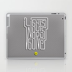 Lights Out, Words Gone Laptop & iPad Skin