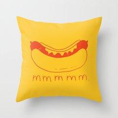 Hot Dog Throw Pillow