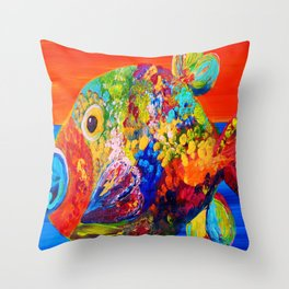 Deviously Dappled Throw Pillow