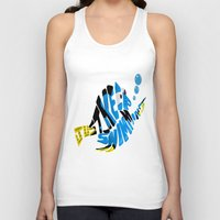 "finding nemo Tank Tops featuring ""just keep swimming"" (Finding Nemo- Dory) by Art of Fernie"