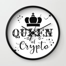 Queen of Crypto Wall Clock