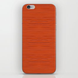 Meteor Stripes - Rust Orange iPhone Skin