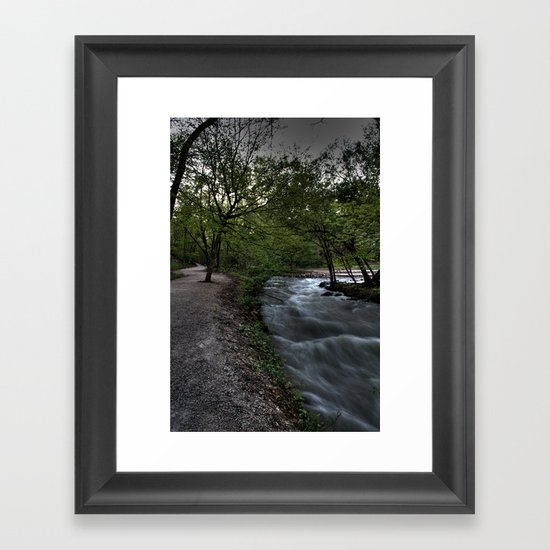 Moving Water Framed Art Print