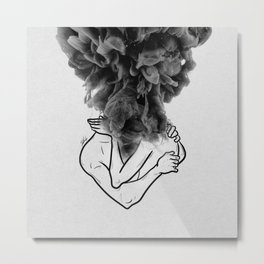 Let's make a storm of love. Metal Print