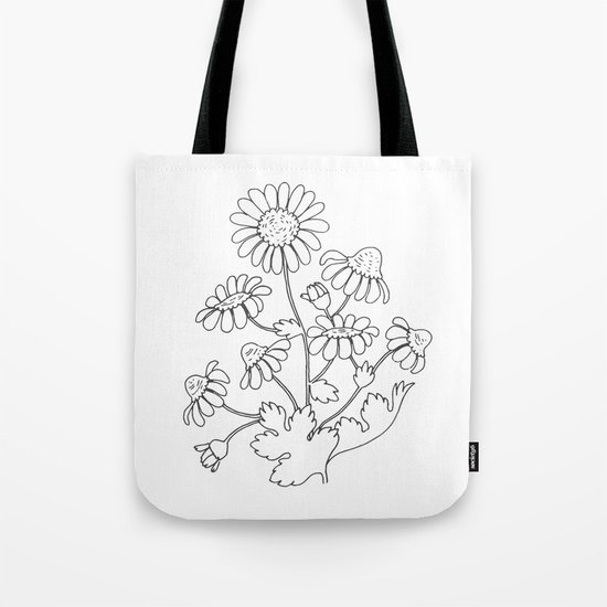 Chamomile flower Tote Bag