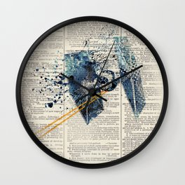 Art on dictionary #Tie fighter Wall Clock