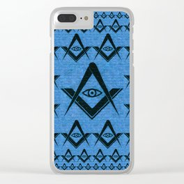 Freemason Symbolism, Masonic, Masonry, Occult Clear iPhone Case