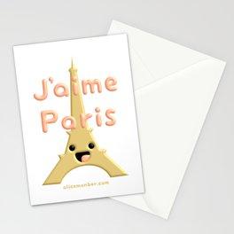 J'aime Paris Cute Eiffel Tower Stationery Cards
