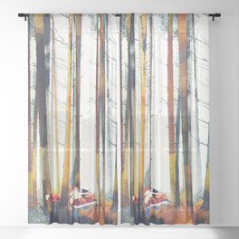 Autumn Hunt Sheer Curtain