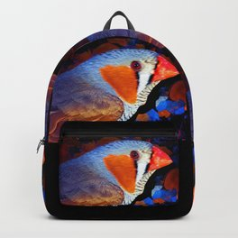 Zebra Finch Painted Backpack