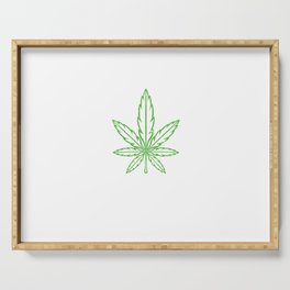 Funny hemp leaf best friends gift Serving Tray