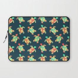 Cute Flower Child Hippy Turtles Laptop Sleeve