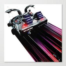 DeLorean Blast Off Canvas Print