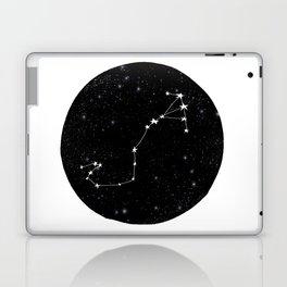 Scorpio black and white star chart zodiac star signs minimal decor Laptop & iPad Skin
