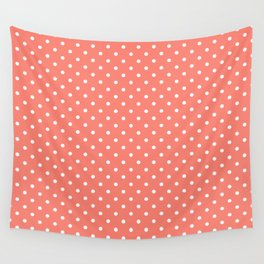 Dots (White/Salmon) Wall Tapestry