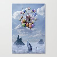 castle Canvas Prints featuring Sweet Castle by teddynash