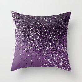 PURPLE Glitter Dream #1 #shiny #decor #art #society6 Throw Pillow