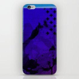 Cool Cross Blue 002 iPhone Skin