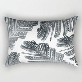 Black & White Boho Banana Leaves #1 #tropical #decor #art #society6 Rectangular Pillow