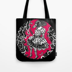 Crow Serie :: Aglaé (red) Tote Bag