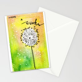Watercolor Dandelion - Make a wish Stationery Cards