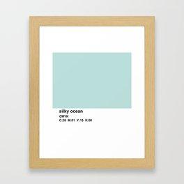 pantone colorblock cmyk blue Framed Art Print