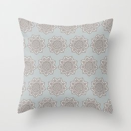 Celtic Mandala in Gray Throw Pillow