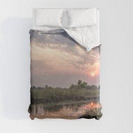 Sun Rising on the Okavango Delta Comforters