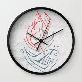 Christian Holy Spirit symbol religious illustration Wall Clock