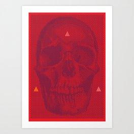 QUANTUM SKULL Art Print