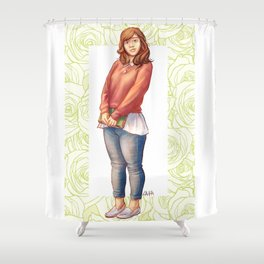 Kami Glass Shower Curtain