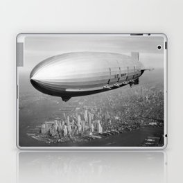 Airship Flying Over New York City Laptop & iPad Skin