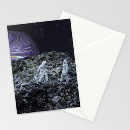 Men On The Moon Stationery Cards