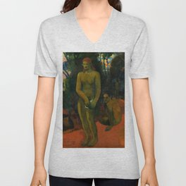 """Paul Gauguin """"Te Pape Nave Nave (Delectable Waters)"""" Unisex V-Neck"""