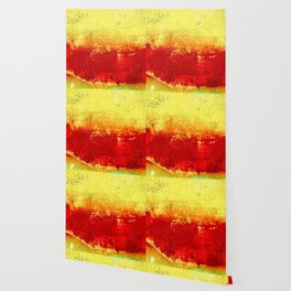 Vibrant Yellow Sunset Glow Textured Abstract Wallpaper