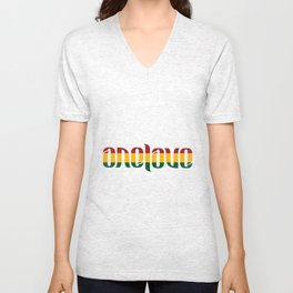 One Love Ambigram  Unisex V-Neck