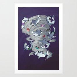 Sharkbuttnado Art Print