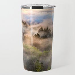 Coastal Fog Over Mount Tamalpais Travel Mug