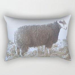 Solitude on straw Rectangular Pillow
