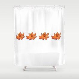 orange flowers ha noi Shower Curtain